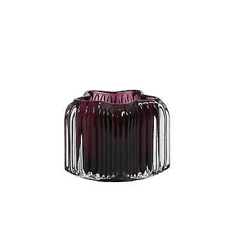 Light & Living Tealight 10.5x8cm - Star Clear Glass And Dark Purple