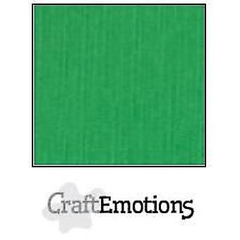 CraftEmotions linnen karton 10 Sh gras groen LHC-27 A4 250gr