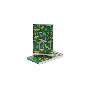 Dinosauria Dark Green Pattern Notepad