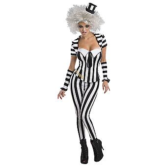 Beetlejuice Womens/Ladies Striped Corset
