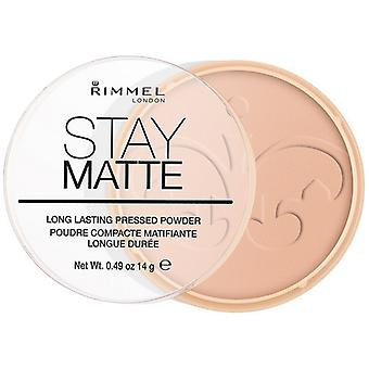 Compact Powders Stay Matte Rimmel London/006 - warm beige 14 g