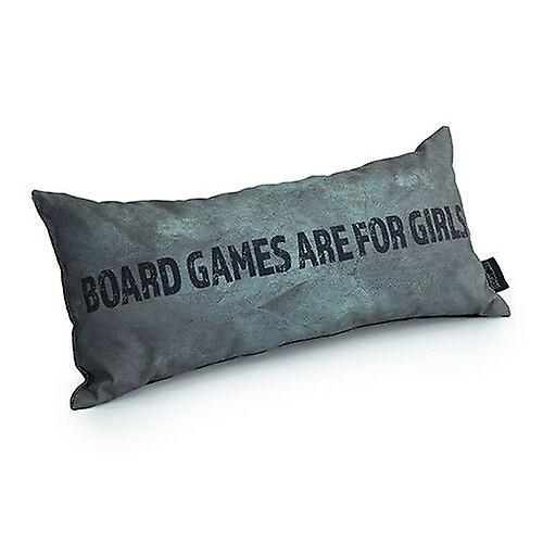 Game Over Board Games Are For Girls Slogan - Silver   Gaming Cushion   Foam Crumb Filled   Water Resistant   Bedding and Sofa   Home Decor