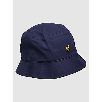 Lyle & Scott Cotton Twill Bucket Hat - Dark Navy
