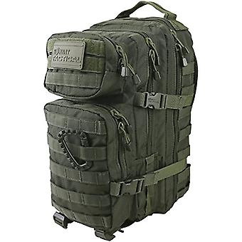 Kombat UK Hex-Tac Small Assault Backpack - Unisex - Hex - Tac Small Springs - Olive Green - One Size