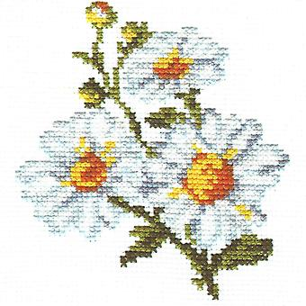 Kit Alisa Cross Stitch - Margaridas