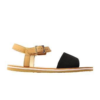 Clarks Skylark Pure Junior Black Combination Leather Girls Sandals