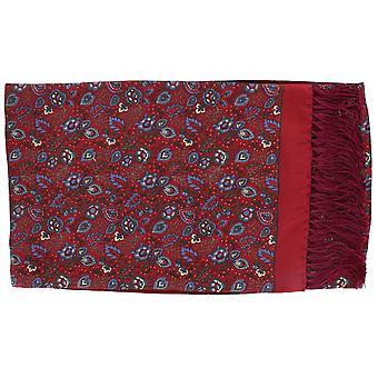 Michelsons London trädgård blommig Silk Scarf - röd