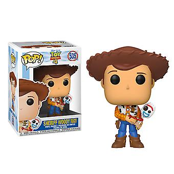 Toy Story 4 Woody with Forky US Exclusive Pop! Vinyl