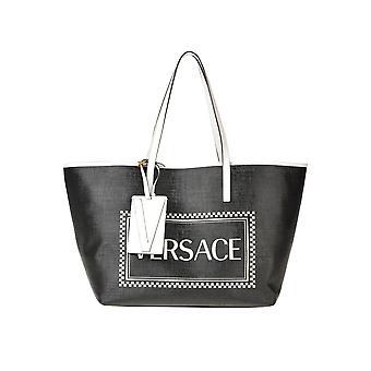 Versace Ezgl383004 Damen's Schwarz Leder Tote