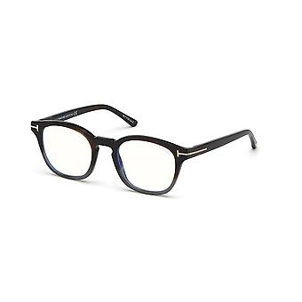 Tom Ford TF5532-B With Clip-on 55A Coloured Havana/Smoke Glasses