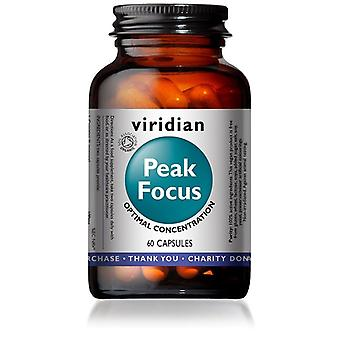 Viridian الذروة التركيز كبسولات الخضار 60 (923)