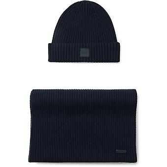Gianto Navy Scarf And Hat Set