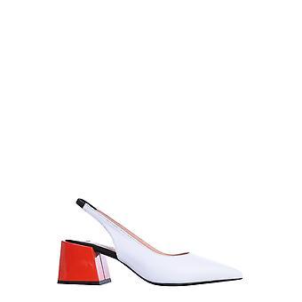 Msgm 2841mds341228101 Sandales en cuir blanc femmes