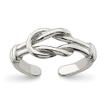 925 Sterling Silver Solid Love Knut Tå Ring 1,2 gram smycken gåvor för kvinnor