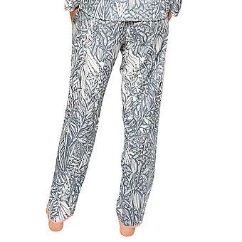 Cyberjammies Hallie 4521 Kvinner's Grå Mix Leaf Print Pyjamas Bukse