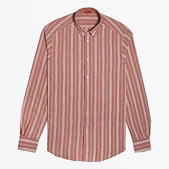 Barena  - Cotton Striped Shirt - Red