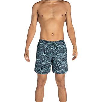 Saxx Underwear Co Cannonball 2N1 Regular Swim Shorts - Fish Scales Grey