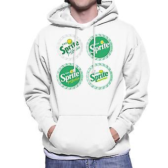 Genießen Sie Sprite Retro Bottlecaps Men es Hooded Sweatshirt