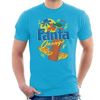 Fanta Laranja garrafa 90s verão homens ' s T-shirt