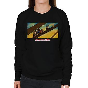 An American Tail Fievel And Family On Rope Women's Sweatshirt