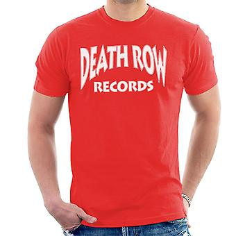 Death Row Records Logo witte T-Shirt voor mannen