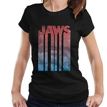 Jaws Shark Text Overlay Women's T-Shirt