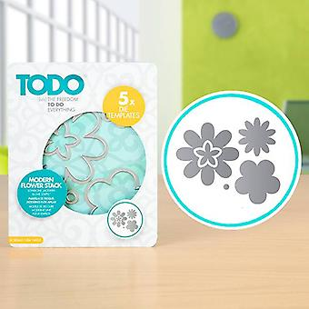 TODO Die Template Set Modern Flower Stack