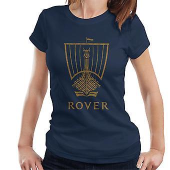 Rover Logo Gold Longship British Motor Heritage Women's T-Shirt