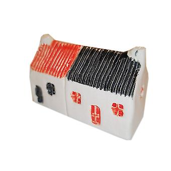 Wee Semi-detached Bothies Tin-roofed Red & Black by Glenshee Pottery