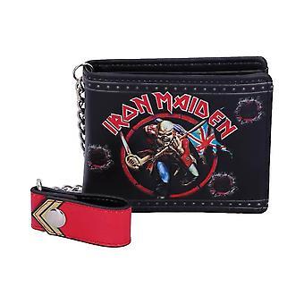Iron Maiden Eddie Trooper plånbok med kedja
