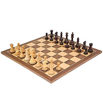 Sicilian Rosewood and Walnut Chess Set