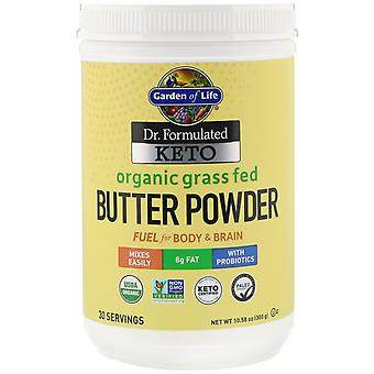 Garden of Life, Dr. Formulated Keto, Organic Grass Fed Butter Powder, 10.58 oz (