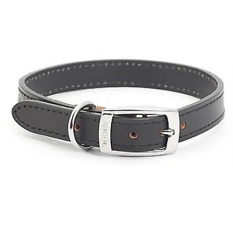 Ancol Heritage Leather Collar - Negru - Dimensiune 6 (22 inch)