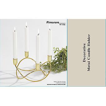 Candlestick Gold forging 23.5 cm