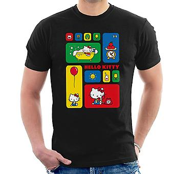 Ciao Kitty Multicolore Tile Montage Men's T-Shirt
