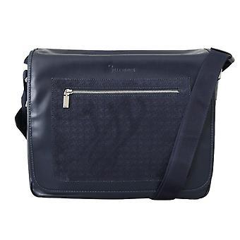 Blue Leather Messenger Shoulder Bag VAS1423