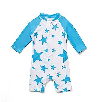 Bonverano Infant Boys One Piece UPF 50+ Sun Protection L/S Sleeves Zip Sunsuit