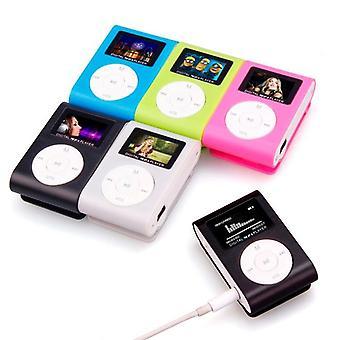 ميني Usb كليب MP3 لاعب مع شاشة LCD، ويدعم 32gb مايكرو Sd Tf بطاقة