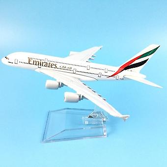 Air Emirates A380 Airlines Airplane Model Airbus 380 Airways 16cm Alloy Metal