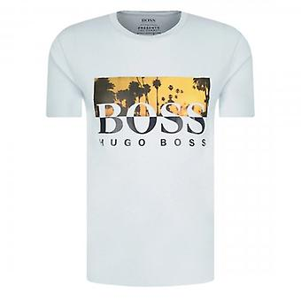 Boss Green Hugo Boss TSummer Graphic Logo T-Shirt Light Blue 50435831
