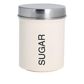 Eigentijdse Suikerbus - Steel Kitchen Storage Caddy met rubberen afdichting - Crème