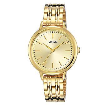 Lorus Damen Licht Gold Armband Uhr weiche Champagner Zifferblatt (Modell Nr. RG204QX9)