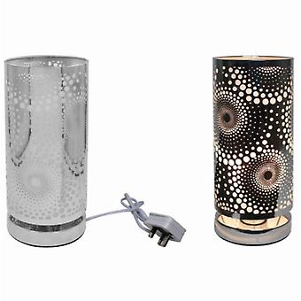 Silver Touch Lamp Cosmic Door Lesser & Pavey (UK Plug)