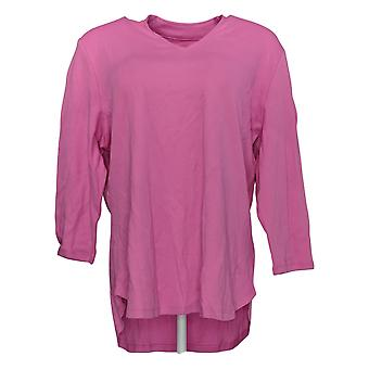 Isaac Mizrahi Live! Women's Top Essentials V-Neck Knit Top Pink A349957