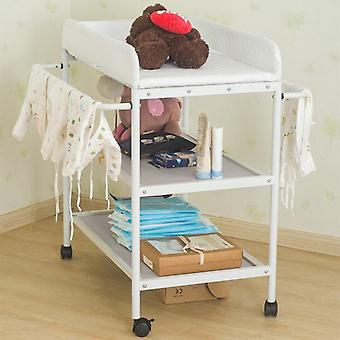 Portable , Movable Baby Diapering Nursing Table With Seat Belt (84 X 72 X90cm)