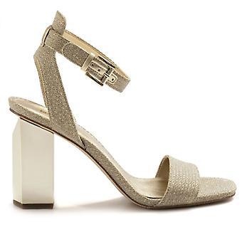 Sandalo Con Cinturino Michael Kors Petra In Glitter Oro