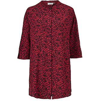 Masai Clothing Geam Red Patterned Shirt