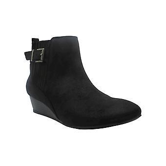 Mia Womens Delaney Fabric Almond Toe Ankle Fashion Boots