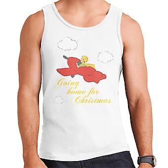 The Little Prince Christmas Going Home For Xmas Men's Vest
