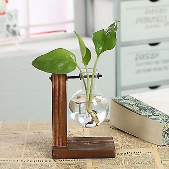 Vintage Terrarium Hydroponiske Plante - Flower Pot Gennemsigtig Vase